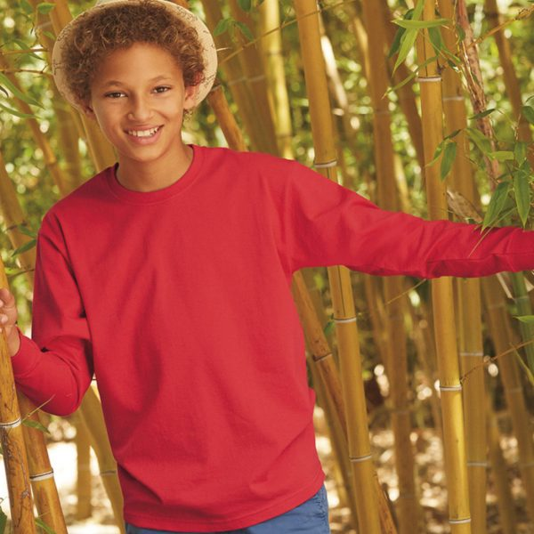 All-Seasons-Sport_FRUIT OF THE LOOM Kids Valueweight Long Sleeve T_SS19B